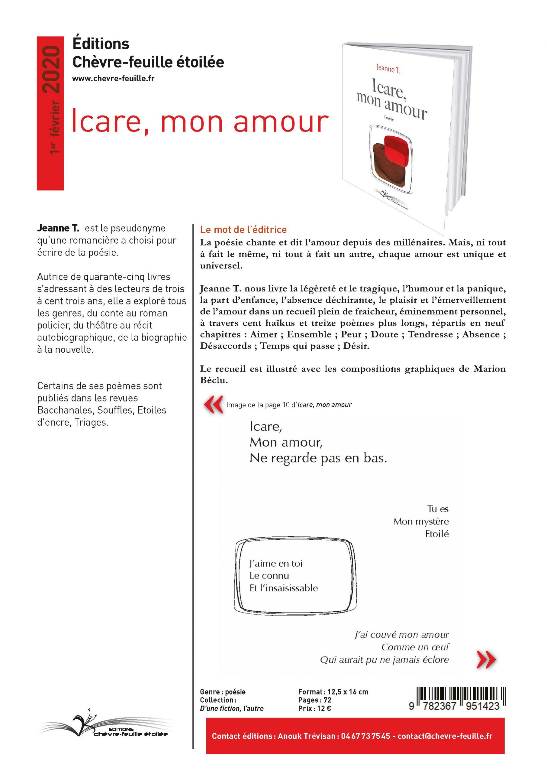 Icare, mon amour 1