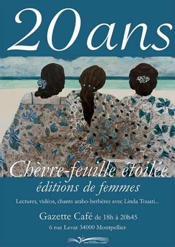 Fête des 20 ans au Gazette café de Montpellier -Éditions Chèvre-feuille étoilée
