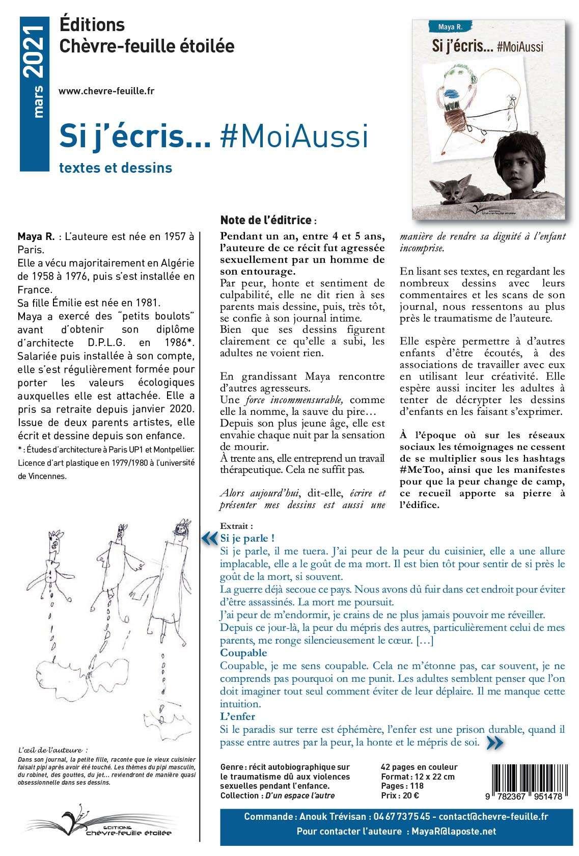 Si j'écris…#MoiAussi -Éditions Chèvre-feuille étoilée