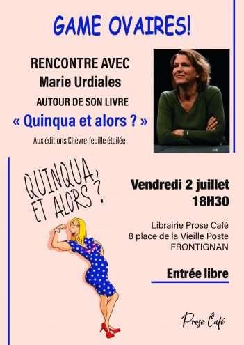 Rencontre avec Marie Urdiales à Frontignan -Éditions Chèvre-feuille étoilée