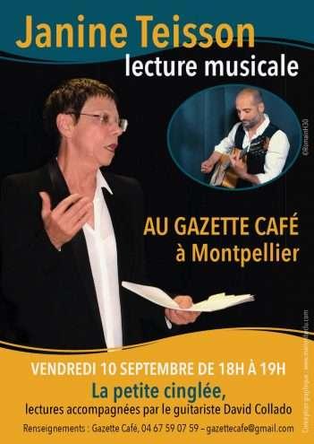 Lecture de Janine Teisson au Gazette café de Montpellier -Éditions Chèvre-feuille étoilée